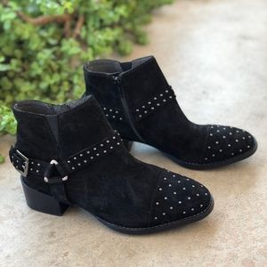 Seychelles VIP Black Suede Leather Sudded Booties